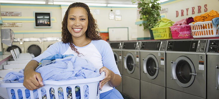 Female Doing Laundry